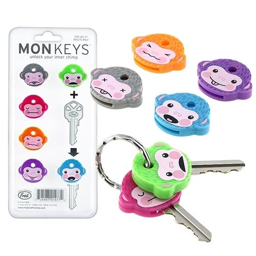 Fred & Friends Monkey Cool Chimp Key Cap Covers Six Color Keychain