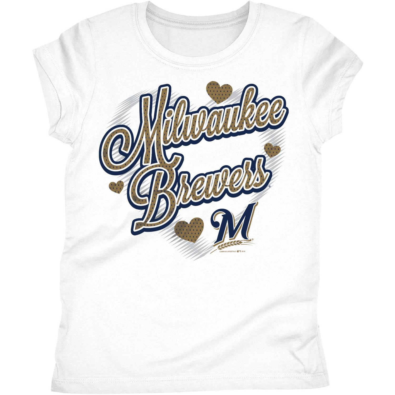 Milwaukee Brewers Girls Short Sleeve Graphic Tee