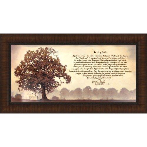 Tangletown Fine Art Living Life By Bonnie Mohr Framed Graphic Art
