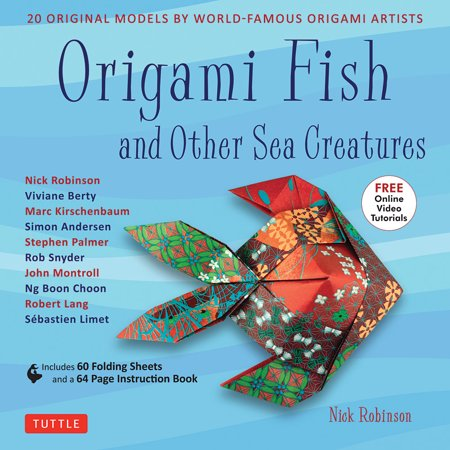 Origami Fish & Other Sea Creatures Book 20 Original Models - Online Tutorial - Halloween Fish Makeup Tutorial