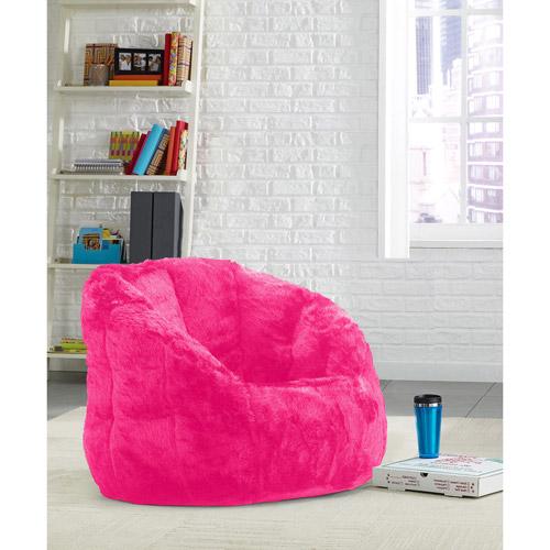 Urban Shop Cocoon Faux Fur Bean Bag Chair, Multiple Colors