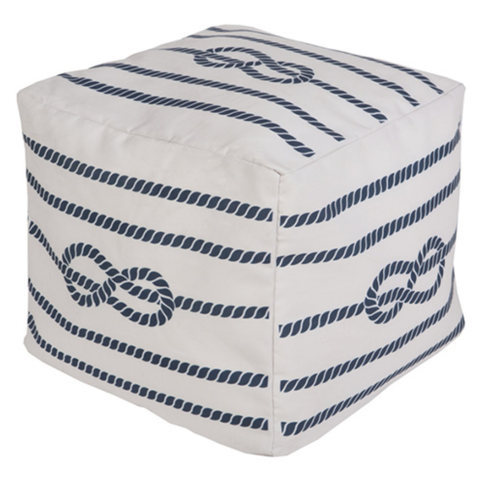 Surya 18 x 18 in. Outdoor Rope Cube Pouf by Surya