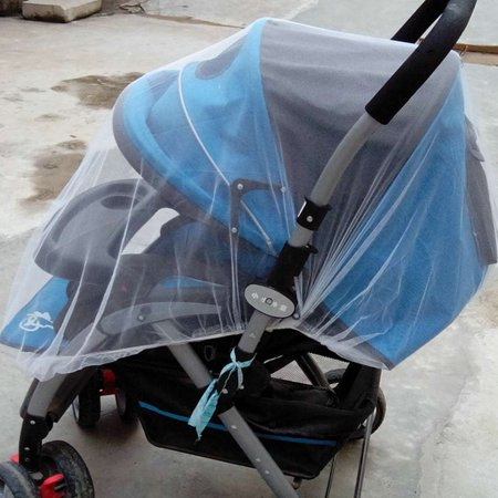 Elastic Band Baby Mosquito Insect Bug Net Covering for Strollers Carriers Cradles Pushchair - image 3 de 5