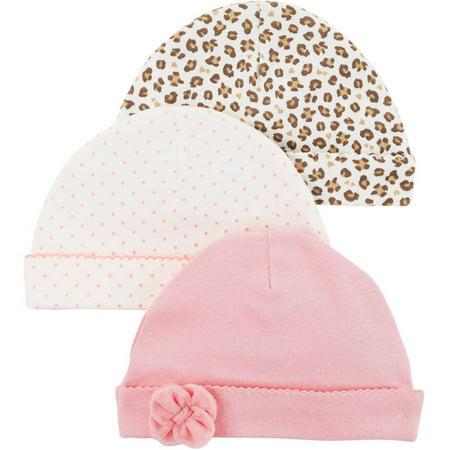 Newborn Baby Girl 3 Pack Cap