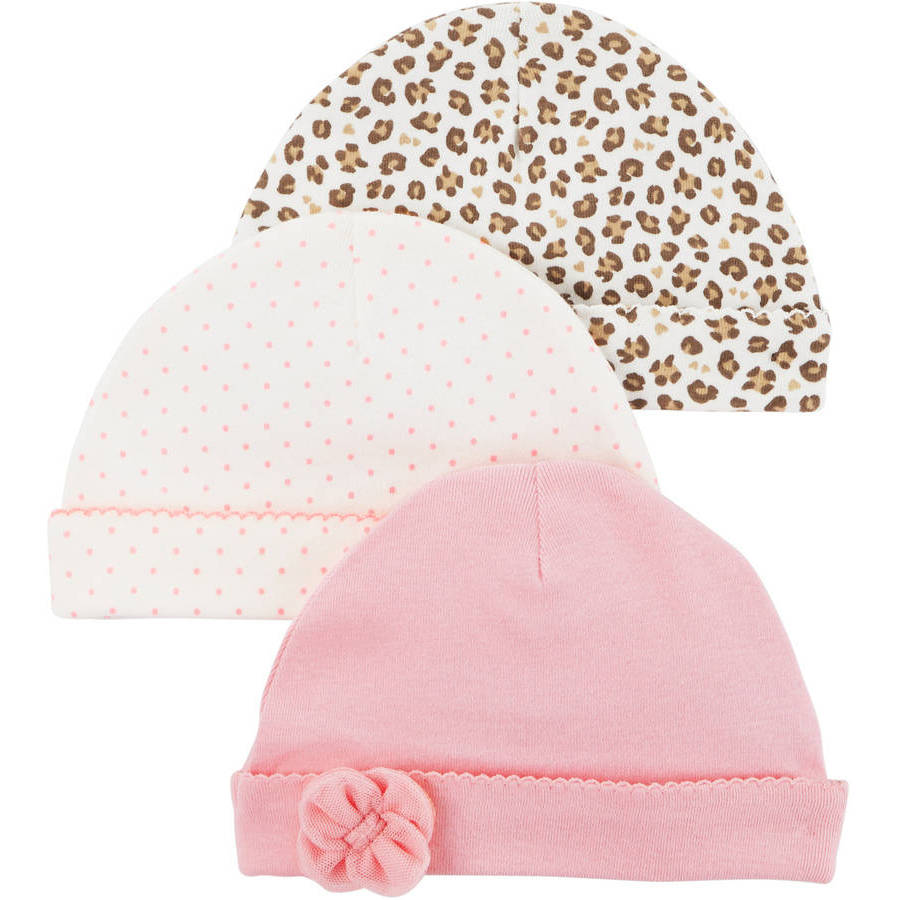 Newborn Baby Girl 3 Pack Cap