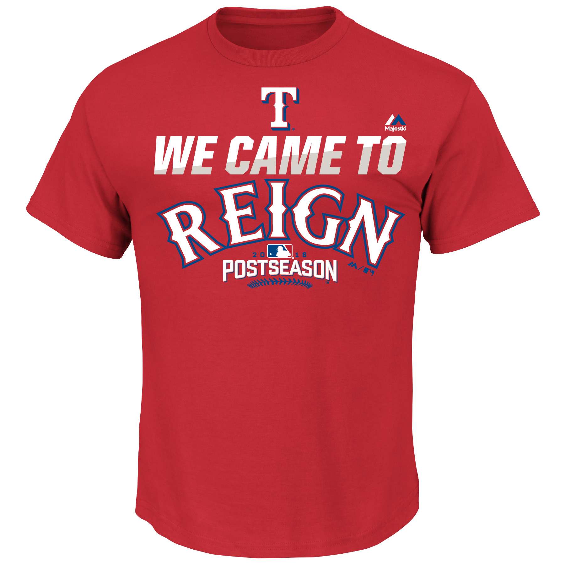 Texas Rangers Majestic 2016 Postseason Authentic Collection Came To Reign Playoff T-Shirt - Red