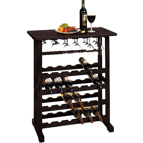 Winsome Wood Vinny 24-Bottle Wine Rack, Espresso, Multiple Finishes by Winsome Trading Inc