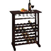 Winsome Wood Vinny 24-Bottle Wine Rack, Espresso, Multiple Finishes