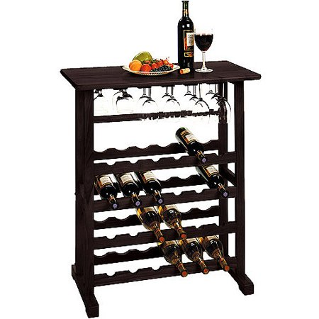 Winsome Wood Vinny 24-Bottle Wine Rack, Espresso, Multiple Finishes (Crisscross Wine Rack)