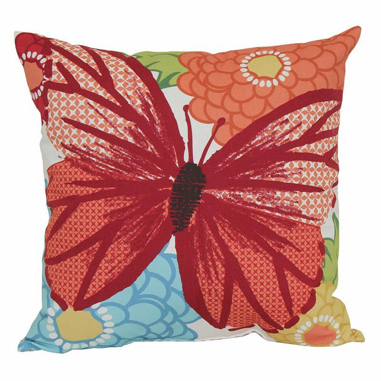 Sonoma All Weather Butterfly Print Accent Pillow Outdoor Toss Throw Cushion