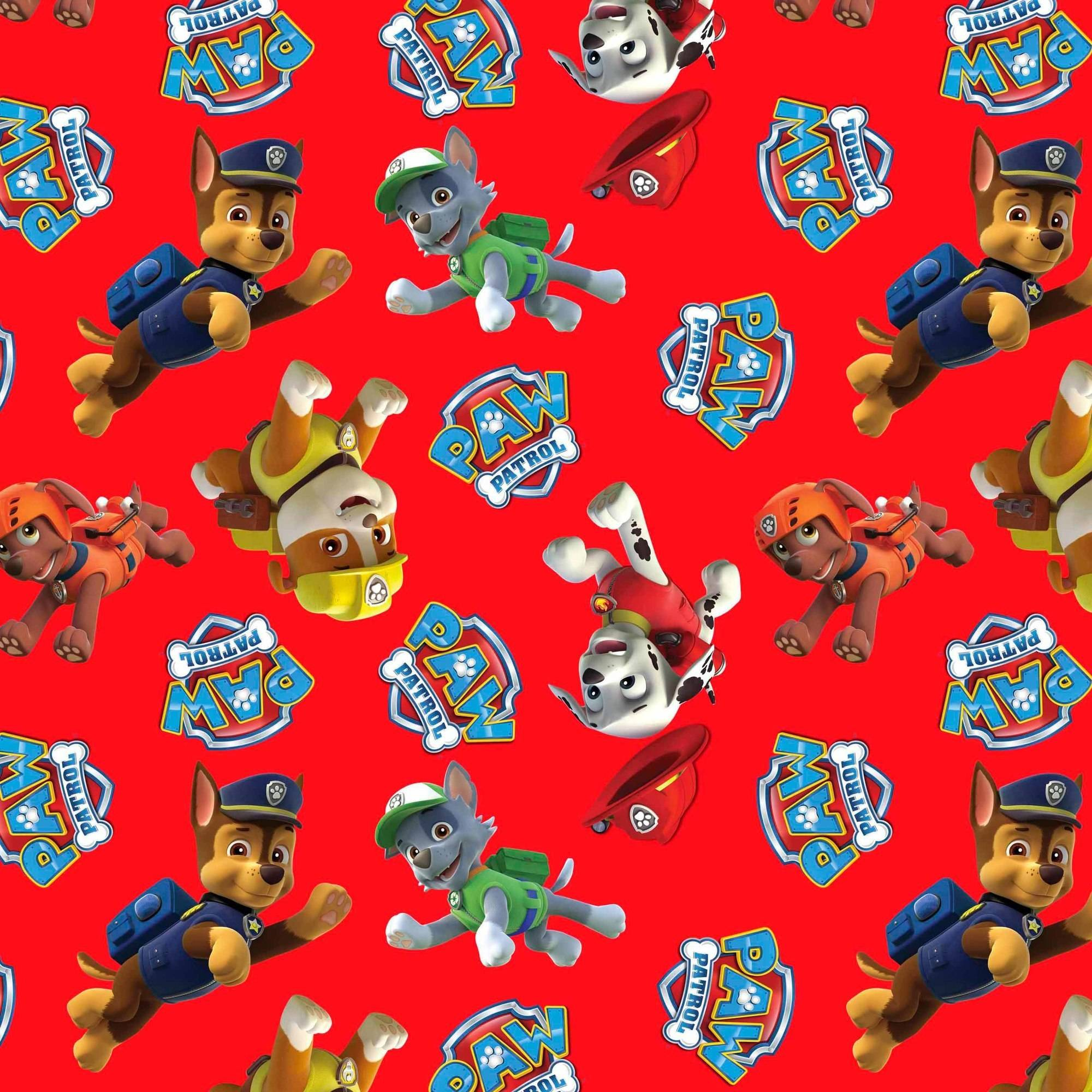 Paw Patrol Rescue Anti-Pill Polyester Fleece Fabric By The Yard, 60""