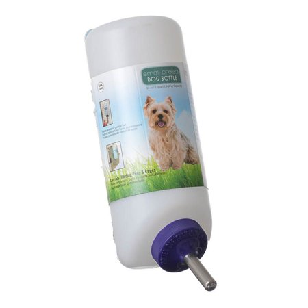 Lixit Wide Mouth Water Bottle Small Dogs Ball Point Stainless Tube Sanitary 32 oz