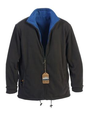 Gioberti Mens Zip Up Reversible Polar Fleece Heavy Jacket