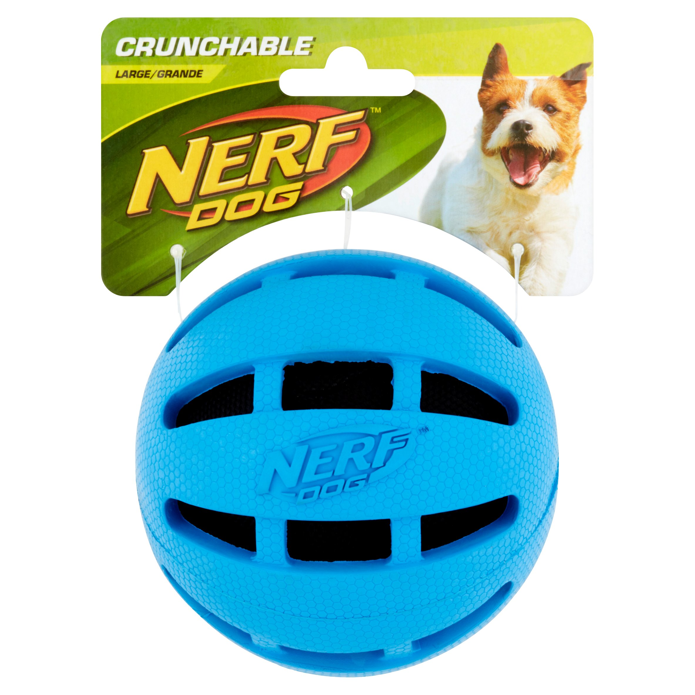 "Nerf 4"" Pet Crinkle Ball, Blue"