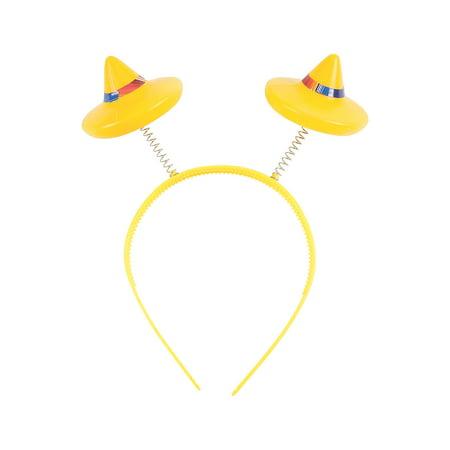 Fun Express - Fiesta Head Boppers for Cinco de Mayo - Apparel Accessories - Hats - Head Boppers - Cinco de Mayo - 12 Pieces](Fiesta Hat)