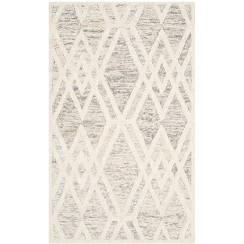 Safavieh Cambridge 4' X 6' Hand Tufted Wool Rug in Gray and Ivory - image 6 of 10