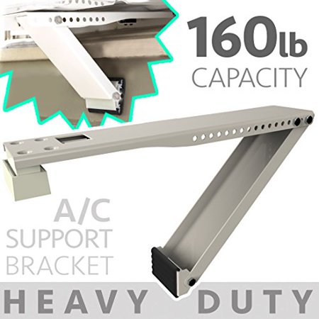 Universal Window Air Conditioner Bracket - 1pc Medium-Duty Window AC Support - Support Air Conditioner Up to 85 lbs. - For 12000 BTU AC to 24000 BTU AC Units (1, (Apc Bracket)