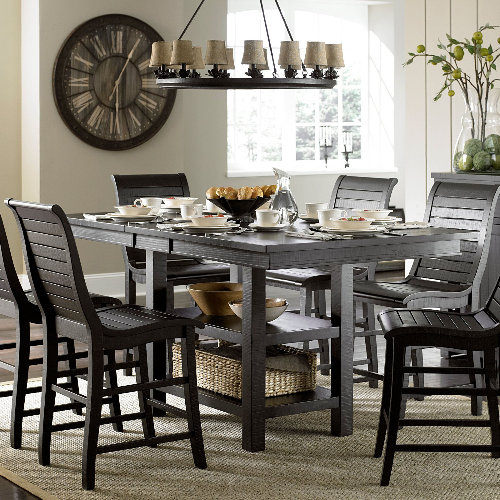 Progressive Furniture Willow Rectangular Counter Height Dining Table