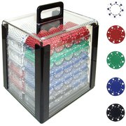 Trademark Poker 1000 11.5 Gram Suited Design Poker Chips in Acrylic Carrier by TRADEMARK GAMES INC