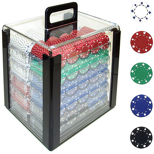 Trademark Poker 1000 11.5 Gram Suited Design Poker Chips in Acrylic Carrier