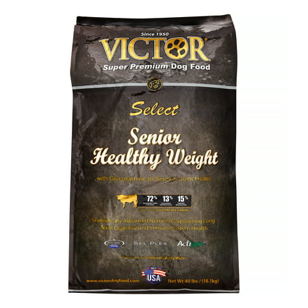 Victor Select Senior Healthy Weight Dry Dog Food, 40-lb (Healthy Soft Dog Food For Senior Dogs)