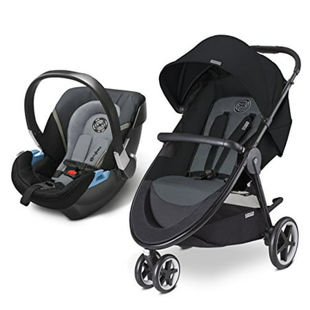 Cybex Agis Travel System with Aton 2 Infant Car Seat, Moon Dust