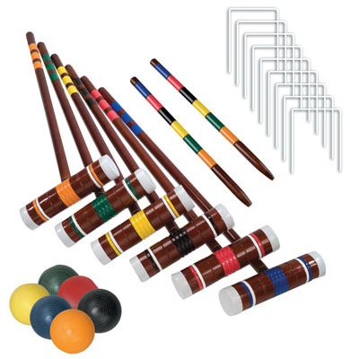 Franklin Sports Industry 50201 Croquet Set, Intermediate, 6-Player