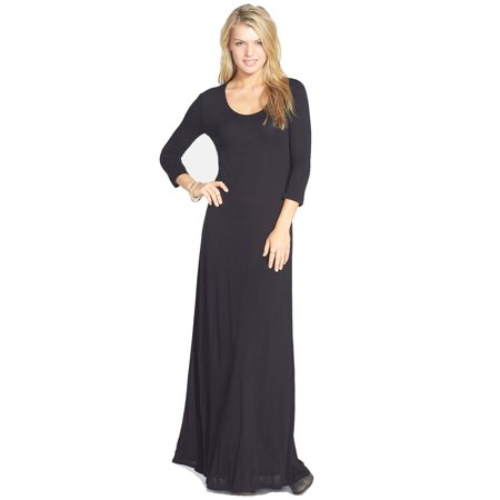 Element Juniors Ira Open Back Maxi Dress Black Walmart