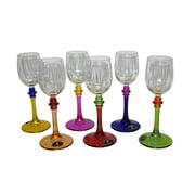 3starimex Multicolored Hand-painted Italian Wine Shot Glasses