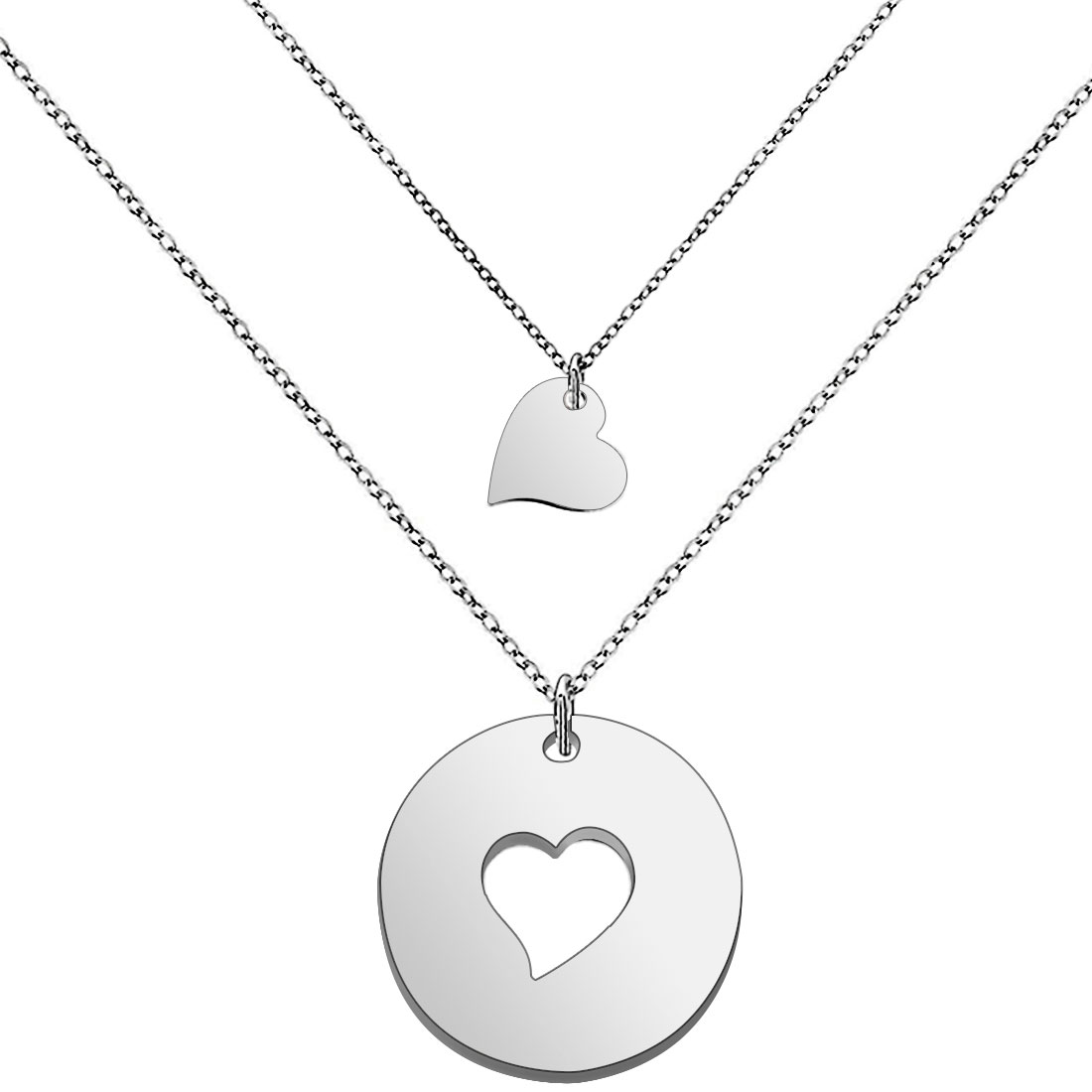 Mother and Child Silver Shade Necklace Jewellery Gift Idea for Mother/'s Day