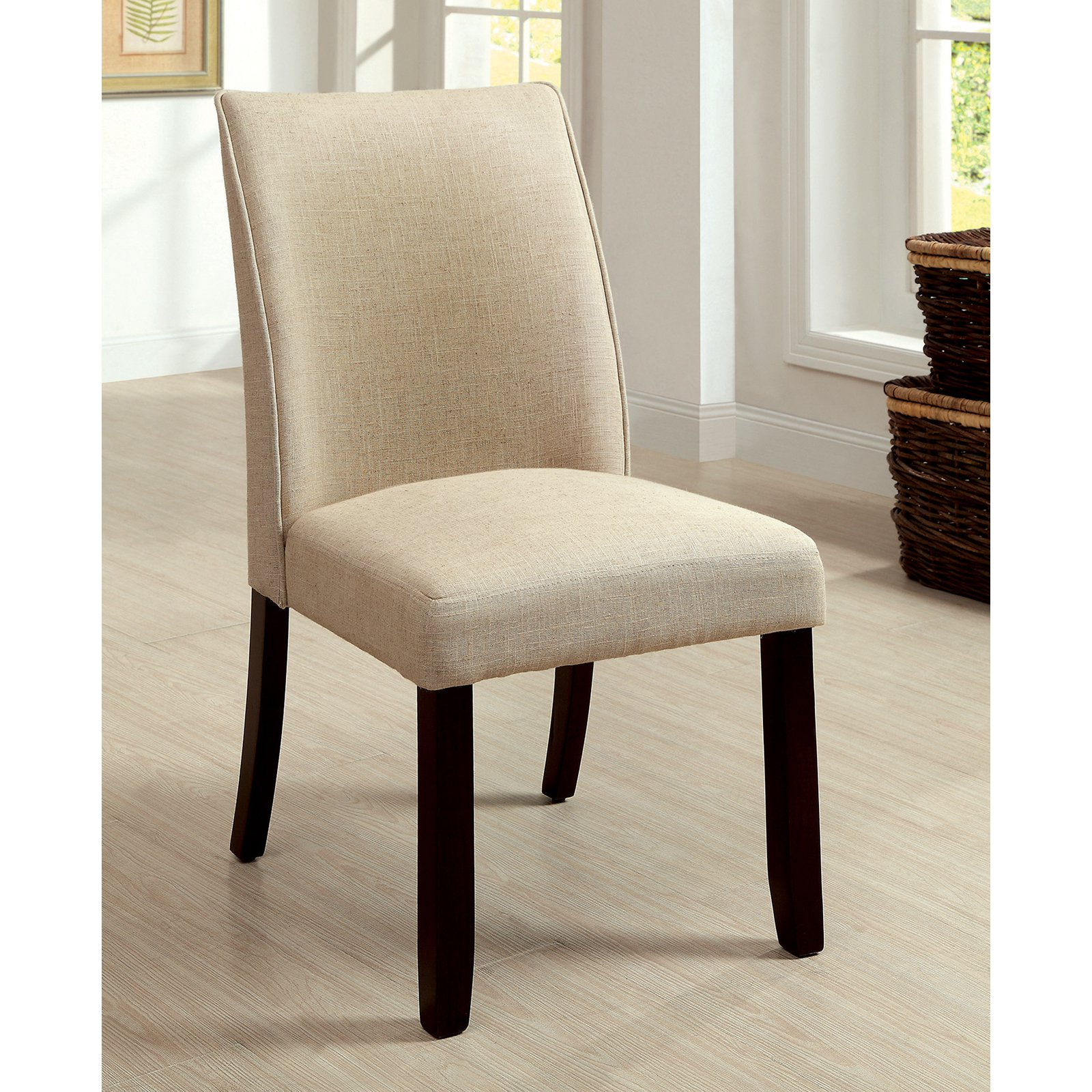 Furniture of America Vessice 2-Piece Parsons Dining Side Chairs - Espresso