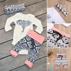 3pcs Set Infant Toddler Baby Boy Girl Tops Romper+Long Pants Outfits Set Clothes 0-24M