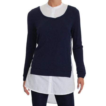 61d2a2768b7544 French Connection Tops & Blouses - French Connection Womens Layered-Look  Tunic Top - Walmart.com