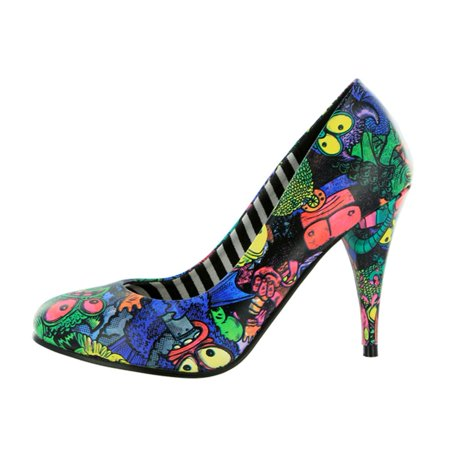 Monster High Cosplay Shoes (Iron Fist - Party Monster Black Womens High Heel)