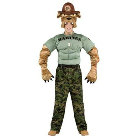 Chesty The Marine Bulldog Headpiece Adult One Size](Marnie Halloween)