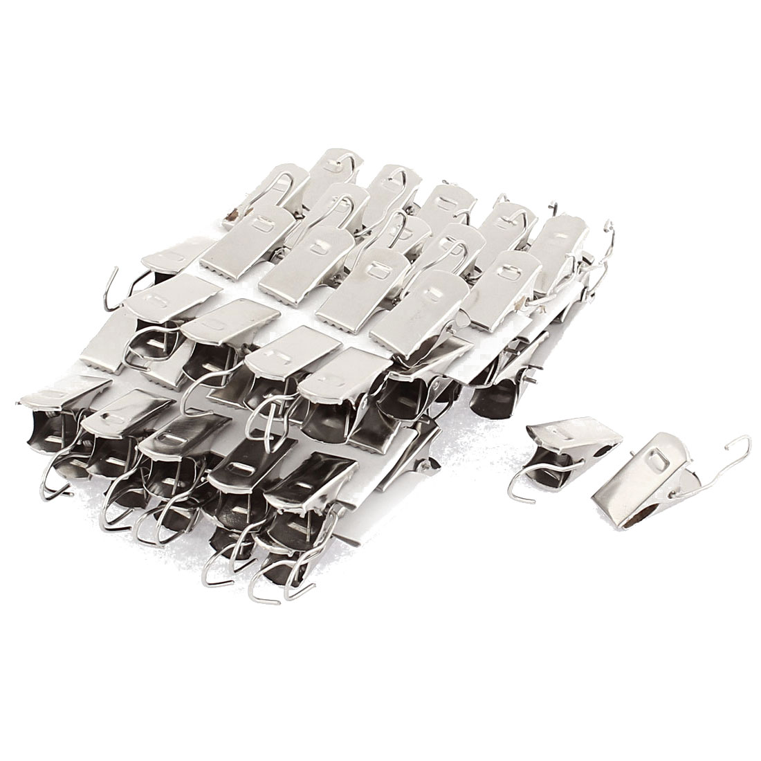 Home Window Shower Drapery Curtain Rod Metal Hook Clips Clamps 60 Pcs