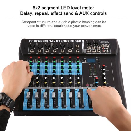 Live Sound Console - CT8 8 Channel Professional Stereo Mixer Live USB Studio Audio Sound Console Network Anchor Device Vocal Effect Processor