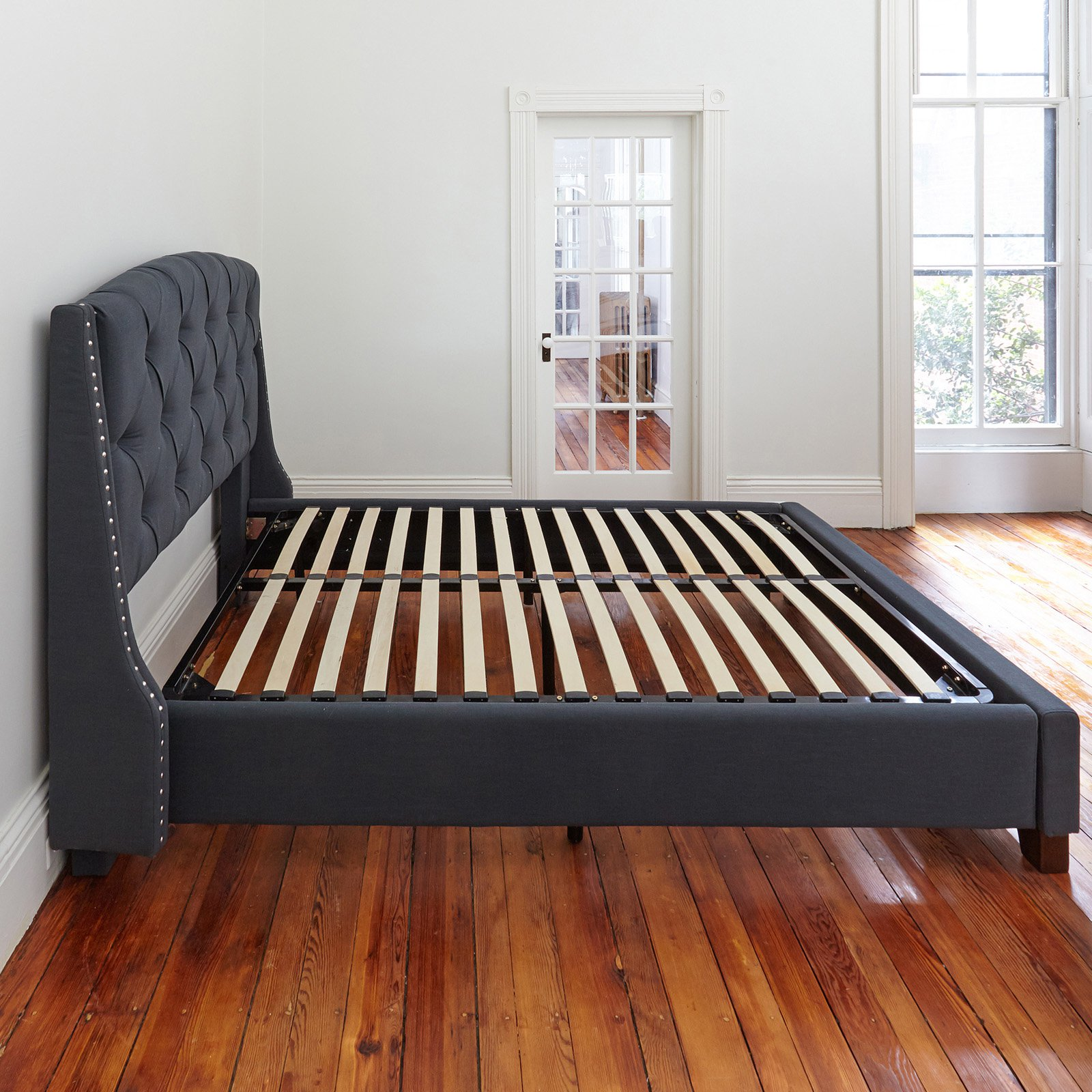 Classic Brands Europa Wood Slat and Metal Platform Bed Frame by Classic Brands