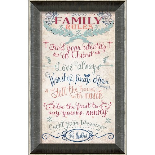 Carpentree Family Rules Framed Textual Art