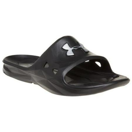 41e3295f99ec8 Under Armour Locker III Men's Slide Sandal 1287325 - Black