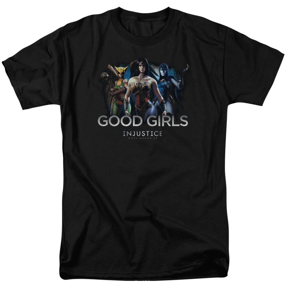 Injustice Gods Among Us Good Girls Mens Short Sleeve Shirt