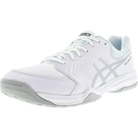 - Asics Men's Gel-Dedicate 5 White / Silver Low Top Tennis Shoe - 10M