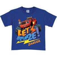 Personalized Blaze and the Monster Machines Blaze Royal Blue Boys' Youth T-Shirt