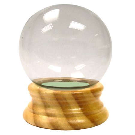 Diy Snow Globe (National Artcraft DIY Water Globe 3-1/8 Inches Round with Maple Finish Wood Base and Snow)