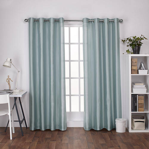 Exclusive Home Chatra Faux Silk Window Curtain Panel Pair with Grommet Top by Exclusive Home