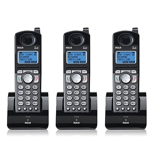 RCA 25055RE1 Dect 6.0 Cordless Expansion Handset 2-Line Landline Telephone - 3 Pack