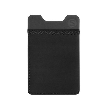 Sidecar Cover - Silk Stick-on Phone Wallet - Sidecar Slim Expandable Credit Card Adhesive Pocket - Fits iPhone and Android