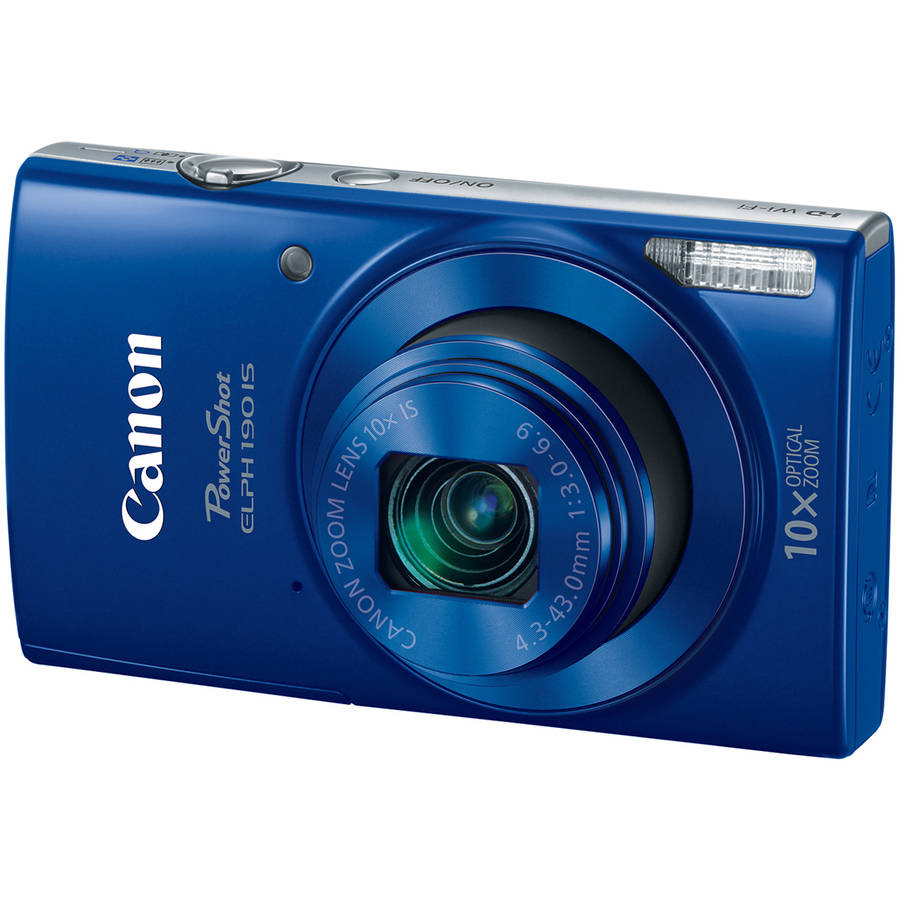 Canon Blue PowerShot ELPH 190 Digital Camera with 20 Megapixels and 10x Optical Zoom