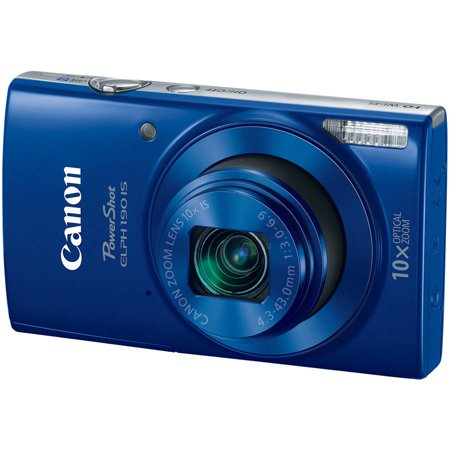 Buy Canon Blue PowerShot ELPH 190 Digital Camera with 20 Megapixels and 10x Optical Zoom