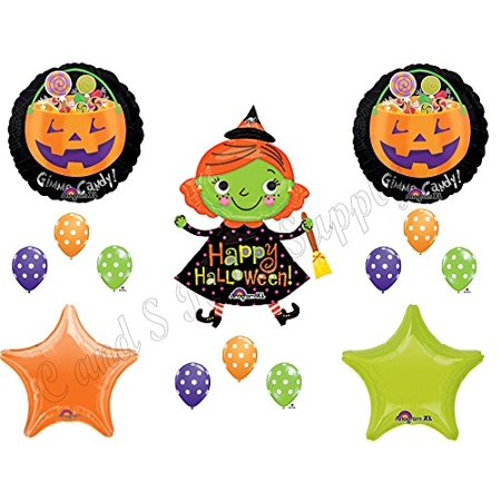 HALLOWEEN WITCH CANDY Party Balloons Decoration Supplies Trick Or Treat Ghosts - Halloween Ghost Trick Or Treat